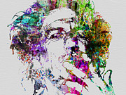 Singer Painting Prints - Keith Richards Print by Irina  March