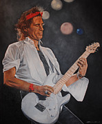 Keith Richards Painting Originals - Keith Richards Live by David Dunne