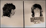 Mick Jagger Metal Prints - Keith Richards Mugshot - Keith Dont Go Metal Print by Bill Cannon