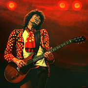 Rolling Stones Painting Prints - Keith Richards Print by Paul  Meijering