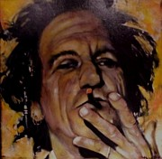 Rolling Stones Painting Originals - Keith Richards by Peter Hereel