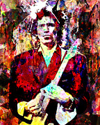 Process Painting Posters - Keith Richards - The Rolling Stones Poster by Ryan Rabbass