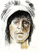 Keith Richards Drawings - Keith Richards by Todd Spaur