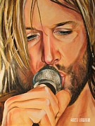 Country Music Keith Urban Posters - Keith Urban 1 Poster by Kath Urbahn