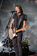 Live Music Prints - Keith Urban 1 Print by Mike Burgquist