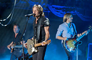 Country Music Keith Urban Posters - Keith Urban 2 Poster by Mike Burgquist