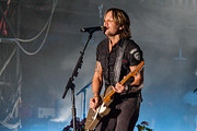 Live Music Prints - Keith Urban 3 Print by Mike Burgquist