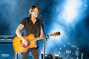 Live Music Prints - Keith Urban Concert Print by Mike Burgquist