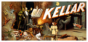 Musician Painting Metal Prints - Kellar Metal Print by Terry Reynoldson