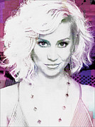 Featured Mixed Media Acrylic Prints - Kellie Pickler Acrylic Print by Michael Knight