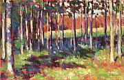 Woods Pastels - Kellys Trees by Mary McInnis