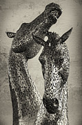 Kelpies Prints - Kelpies - Metal Horses Print by Krzysztof Hanusiak