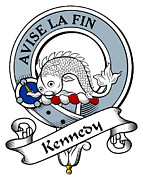 Genealogy Prints - Kennedy Clan Badge Print by Heraldry