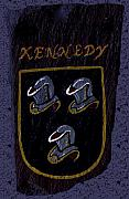 Coat Of Arms Paintings - Kennedy Crest by Barbara McDevitt