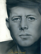 Jfk Paintings - Kennedy by Luis  Navarro