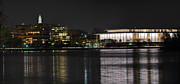 Moonlight Framed Prints - Kennery Center for the Performing Arts - Washington DC - 01131 Framed Print by DC Photographer