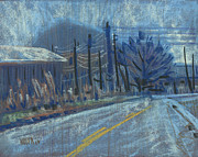 Mountain Road Pastels Prints - Kennesaw View Print by Donald Maier