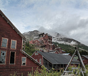 Alaska Gold Mine Prints Photos - Kennicott Mine on a Cloudy day by Chris Lindner