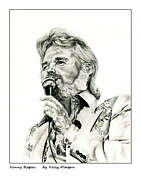 Kenny Rogers Prints - Kenny Rogers Print by Kelly Morgan