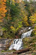 Autumn In New England Posters - Kent Falls Autumn Poster by Bill  Wakeley