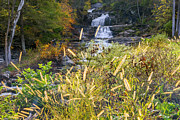 Autumn Scene Framed Prints - Kent Falls Framed Print by Bill  Wakeley