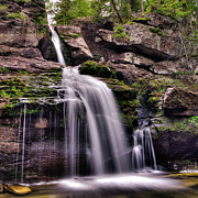 Connecticut Prints - Kent Falls - Upper Print by David Hahn