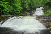 Litchfield Hills Prints - Kent Falls Waterfall Print by John Burk