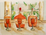 Moonshine Paintings - Kentucky Bourbon Sampler by Elaine Duras
