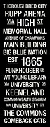 Library Posters - Kentucky College Town Wall Art Poster by Replay Photos