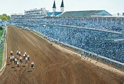 Kentucky Painting Posters - Kentucky Derby - Horse Race Poster by Mike Rabe