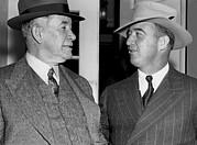Kentucky Senators Visit Fdr Print by Underwood Archives