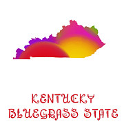 Kentucky Digital Art - Kentucky State Map Collection 2 by Andee Photography