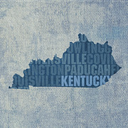 Kentucky Prints - Kentucky Word Art State Map on Canvas Print by Design Turnpike
