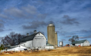 Illinois Barns Photo Prints - Kenyon Brothers Dairy Print by David Bearden