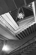 Private Prints - Kenyon College Peirce Hall Stairway Print by University Icons