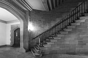 Gothic Revival Framed Prints - Kenyon College Peirce Stairway Framed Print by University Icons