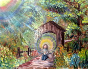 Sun Rays Paintings - Kenzies Prayer by Joni Yager