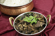 Liver Posters - Kerala Mutton Liver Fry Horizontal Poster by Paul Cowan