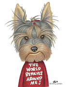Yorkshire Terrier Art Framed Prints - Keri  Framed Print by Danny Gordon