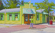 Key West Pyrography - Kermit  key lime pie store by Pavel Trostyanskiy