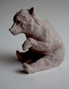 Mammals Sculptures - Kermode bear  by Derrick Higgins
