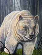 Kermode Framed Prints - Kermode Spirit Bear  Framed Print by Rayna DeHoog