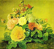 Monet Art - Kersting Blumenstillleben ca 1830 by MotionAge Art and Design - Ahmet Asar