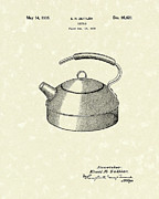 Tea Kettle Framed Prints - Kettle 1935 Patent Art Framed Print by Prior Art Design