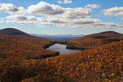 Kettle Pond At Owls Head In Autumn Print by Jetson Nguyen