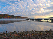 York Beach Metal Prints - Keuka Dawn Metal Print by Joshua House