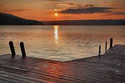 Finger Lakes Framed Prints - Keuka Sunrise II Framed Print by Steven Ainsworth