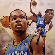 Nba Drawings Framed Prints - Kevin Durant Framed Print by Cory McKee