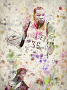Kevin Durant In Color Print by Aged Pixel