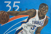 Basket Ball Framed Prints - Kevin Durant Framed Print by Ryan Doray